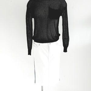 Dolce&Gabbana White Pencil Denim Skirt